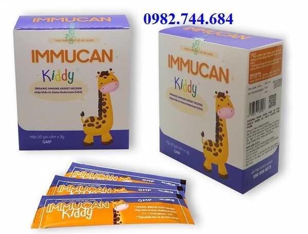 Sử dụng cốm Immucan kiddy tăng sức đề kháng cho trẻ