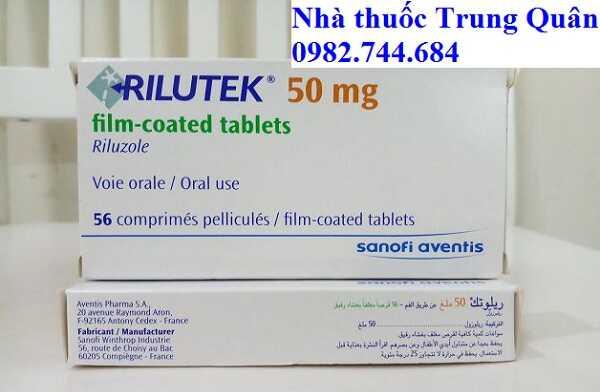 Thuốc Rilutek Riluzole 50mg điều trị teo cơ als
