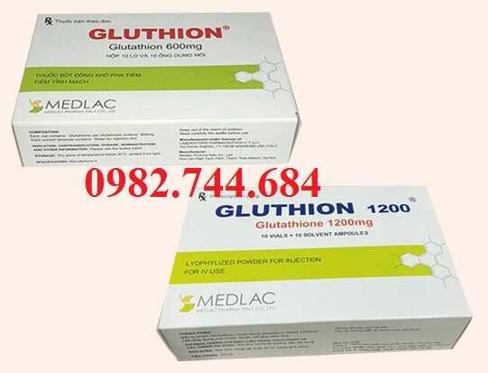 Thuốc Gluthion có hàm lượng 1200 mg và 600 mg