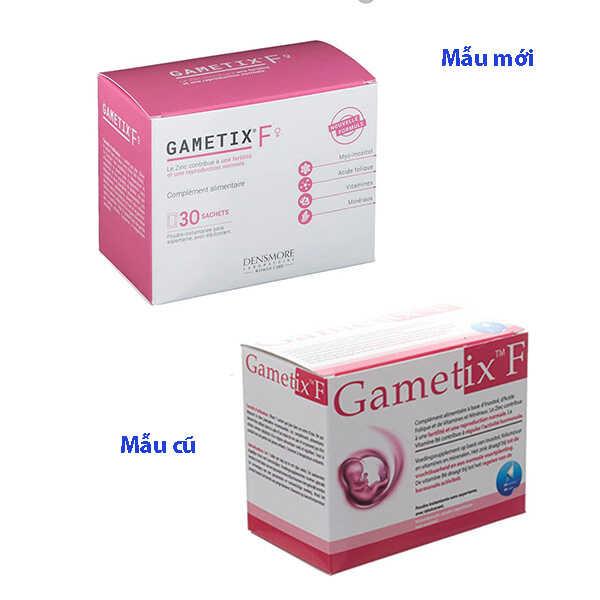 Thuốc Gametix F có 2 mẫu cũ và mẫu mới 2020