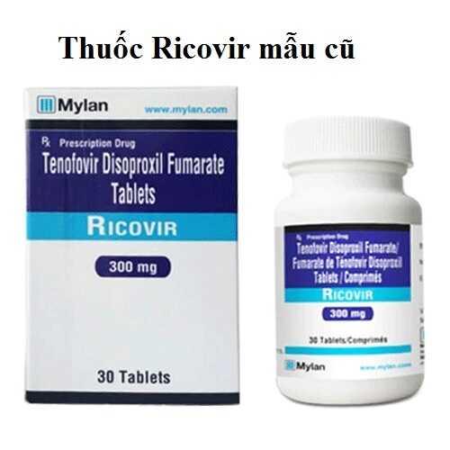 Thuốc Ricovir 300mg hàng công ty mẫu cũ