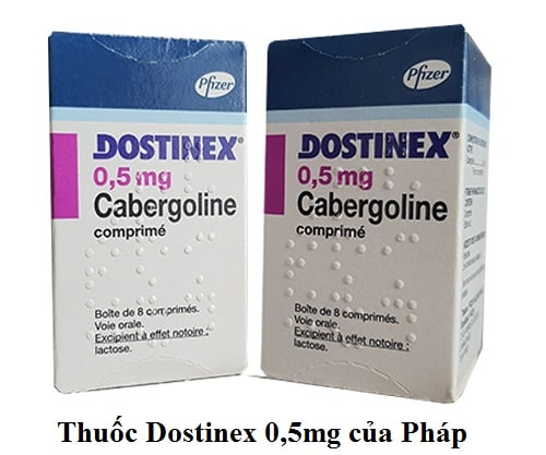 Thuốc Dostinex 0,5mg (Cabergoline) của Pháp