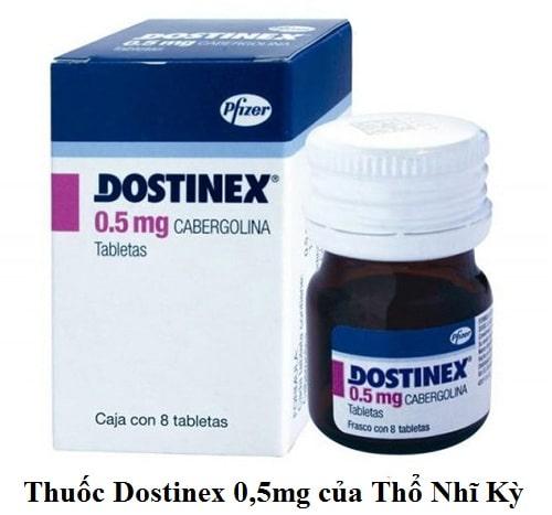 Thuốc Dostinex 0,5mg (Cabergoline) của Thổ