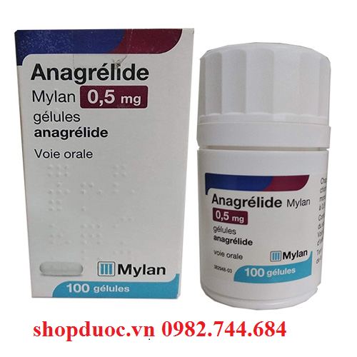 Thuốc Anagrelide điều trị tăng tiểu cầu