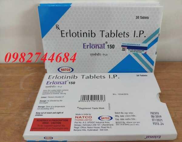 Thuốc Erlonat 150 Erlotinib điều trị ung thư phổi