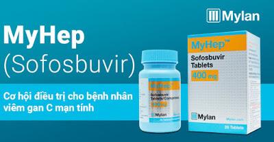 Thuốc Myhep (Sofobuvir 400mg) điều trị viêm gan C