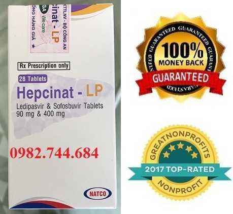 Thuốc Hepcinat LP (thuốc Ledvir) điều trị viêm gan C hiệu quả