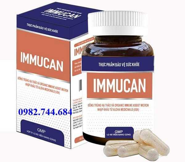 Immucan tăng cường hệ miễn dịch, bồi bổ sức khỏe