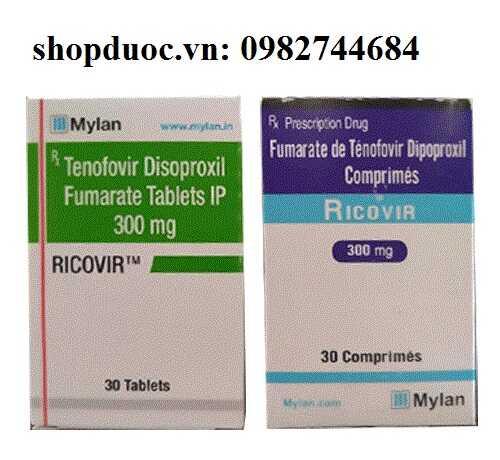 Thuốc Ricovir 300mg điều trị viêm gan B và HIV