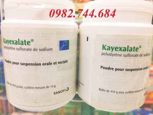 Thuốc Kayexalate 15g điều trị tăng kali máu khi suy thận