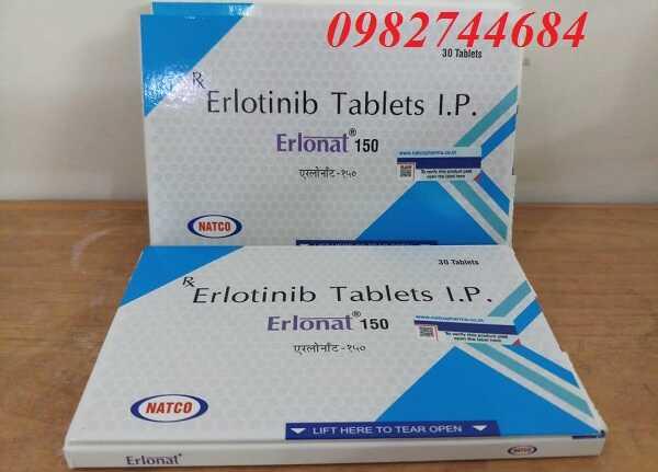 Thuốc Erlonat 150 Erlotinib điều trị ung thư phổi và tụy