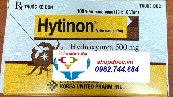 Thuốc Hytinon 500mg điều trị ung thư máu của Hàn Quốc