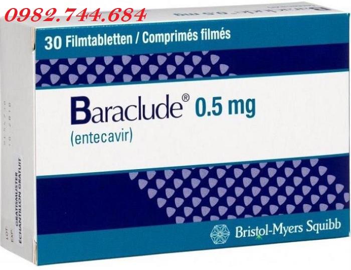Thuốc baraclude 0.5 mg điều trị viêm gan B mạn tính